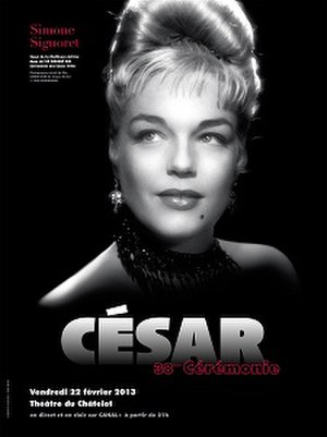 38th César Awards - Official poster featuring a 1952 photo of the late French actress Simone Signoret