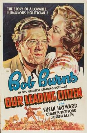 Our Leading Citizen (1939 film) - Theatrical release poster