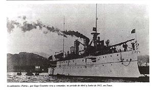East Timorese rebellion of 1911–12 - The gunboat Pátria was instrumental in eliminating the rebellion in coastal areas