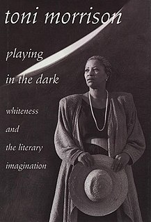 <i>Playing in the Dark</i> 1992 work of literary criticism by Toni Morrison