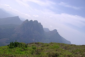 Tamraparni - Agastya Malai of the Pothigai Hills range, the source of the Tamraparni river