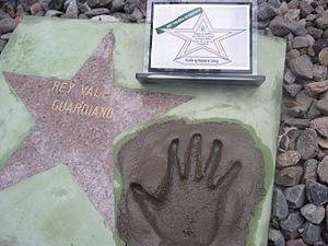 Rey Valera - Award and Handprint