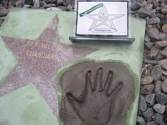 Rey Valera - Award and Handprint
