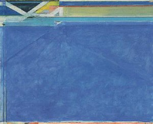 Richard Diebenkorn - Ocean Park No. 129, oil on canvas, 1984