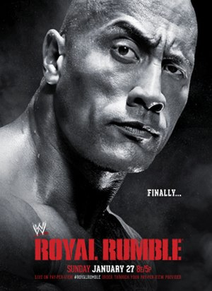 Royal Rumble (2013) - Promotional poster featuring The Rock.