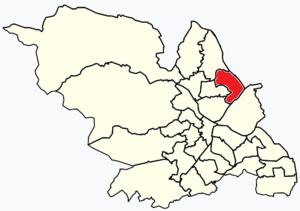 Shiregreen and Brightside - Image: Sheffield wards Shiregreen and Brightside