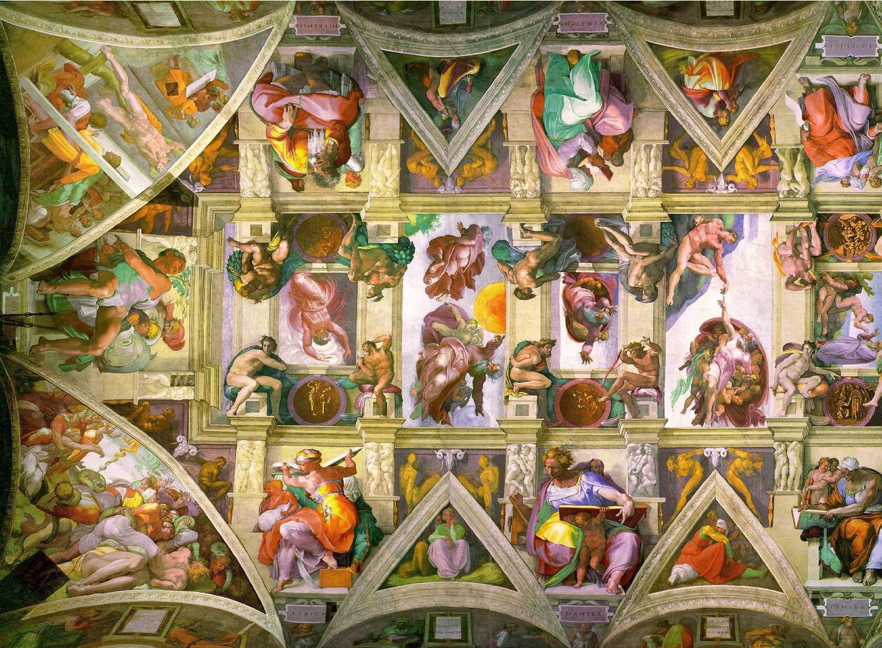 Beautiful File:Sistine Chapel Ceiling Left.png