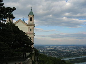 Leopoldsberg - The Leopoldskirche at the summit of Leopoldsberg
