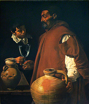 Tabard - The Waterseller of Seville by Diego Velázquez. c.1620.