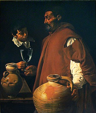 Tabard - The Waterseller of Seville by Diego Velázquez, c.1620, depicting a functional workman's tabard