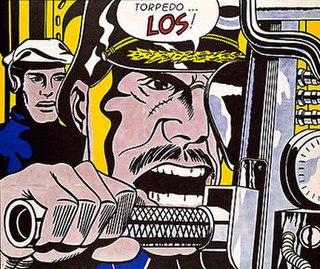 <i>Torpedo...Los!</i> painting by Roy Lichtenstein