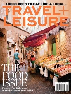 Travel + Leisure magazine cover