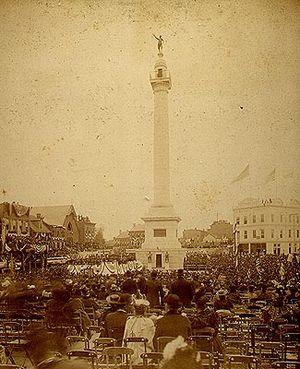 Trenton Battle Monument - The Trenton Battle Monument concourse during its dedication ceremony on October 19, 1893.