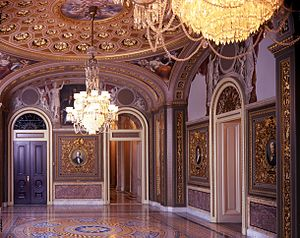 United States Senate Reception Room - Southwest corner of the Senate Reception Room in 2004
