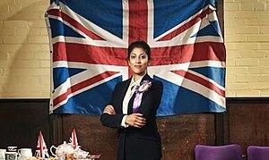 UKIP: The First 100 Days - Promotional image with Priyanga Burford as the fictional Deepa Kaur, MP
