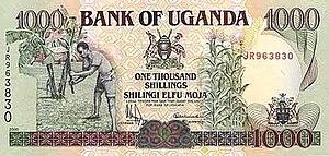 Ugandan shilling - Image: Ugandan Shillings 1000