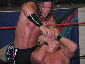 "Andy Douglas - Andy Douglas wrestles ""The King"" Shane Williams in a 2006 United Wrestling Association match."
