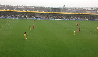 Torquay United F.C. - View of The Popular Side from Bristow's Bench