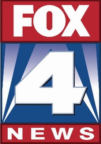 """WDAF-TV - Fox 4 News logo, used since 2007. The numeric """"4"""" has been used in some form since 1976, when the station was still an NBC affiliate (originally accompanied by a circle outline until January 1997)."""