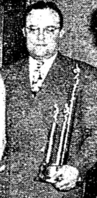 Bill Adamaitis - Adamaitis as head coach of Worcester South basketball team, 1947