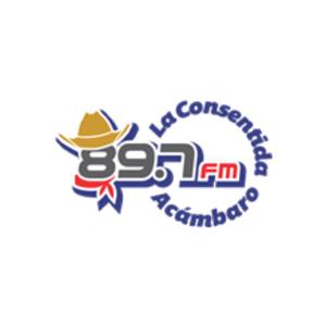 "XHAK-FM - XHAK ""La Consentida"" logo used from 2013 to 2017"
