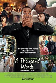 <i>A Thousand Words</i> (film) 2012 US comedy-drama film by Brian Robbins