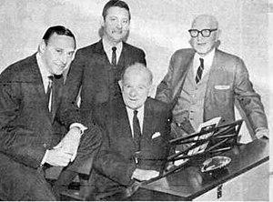Abel Baer - Abel Baer (seated) in 1966