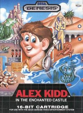Alex Kidd in the Enchanted Castle - North American box art