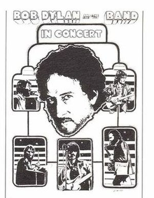 Bob Dylan and the Band 1974 Tour - Tour poster