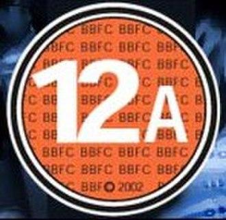 History of British film certificates - Image: British 12A certificate logo (2002)