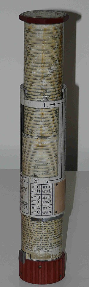 Bygrave slide rule - Bygrave A.M.L. Position line slide rule Mk. IIA serial No. 355