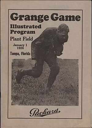 Tampa Cardinals -  January 1, 1926: Game program from the first pro football game in Tampa.  Tampa Cardinals vs. Chicago Bears