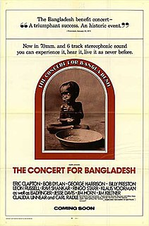 <i>The Concert for Bangladesh</i> (film) 1972 film by Saul Swimmer
