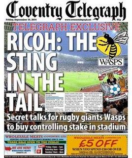 <i>Coventry Telegraph</i> Local English tabloid newspaper