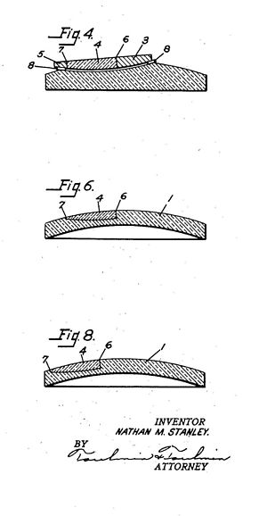 United States v. Univis Lens Co. - Cross–sections of lenses according to Univis's U.S. Patent No. 1,845,940