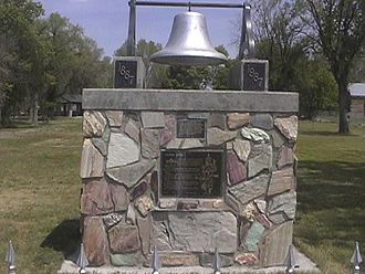 Snowville, Utah - Curlew Valley Settler's Bell at the Snowville City Park.