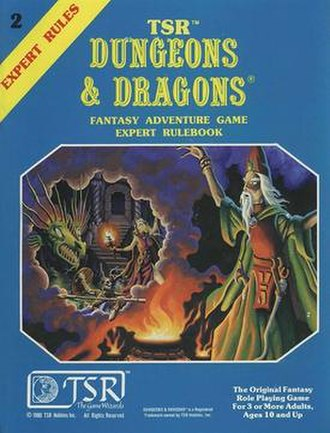 Dungeons & Dragons Expert Set - The cover of the 1981 Expert Set rule book; cover art by Erol Otus
