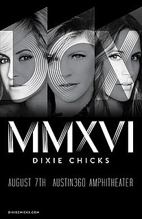 DCX MMXVI World Tour Concert tour from American country music trio Dixie Chicks