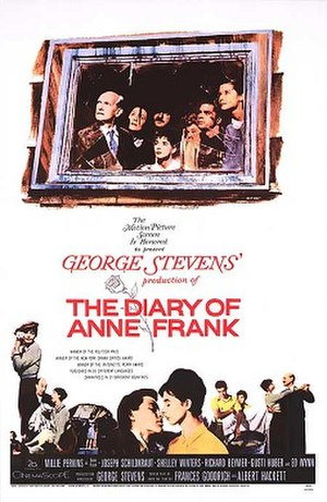 The Diary of Anne Frank (1959 film) - Film poster by Tom Chantrell