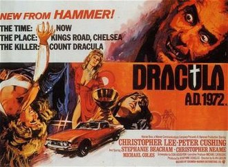 Dracula A.D. 1972 - Theatrical release poster