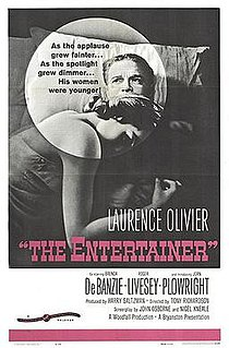 <i>The Entertainer</i> (film) 1960 drama film directed by Tony Richardson