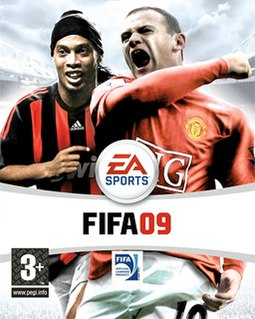 The UK cover featuring Ronaldinho and Wayne Rooney