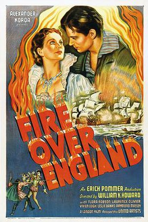 Fire Over England - Film poster