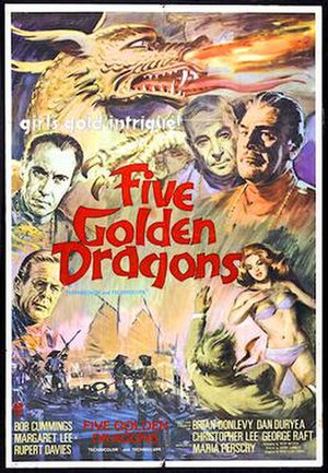 Five Golden Dragons - 1967 theatrical poster