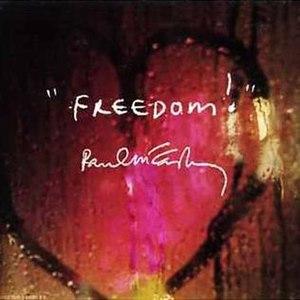 Freedom (Paul McCartney song) - Image: Freedom mccartney single