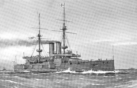 Illustration of Russell underway
