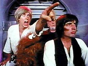 "Hardware Wars - Counterclockwise from top left: Fluke Starbucker, Chewchilla the Wookiee Monster, Ham Salad, and Augie ""Ben"" Doggie."