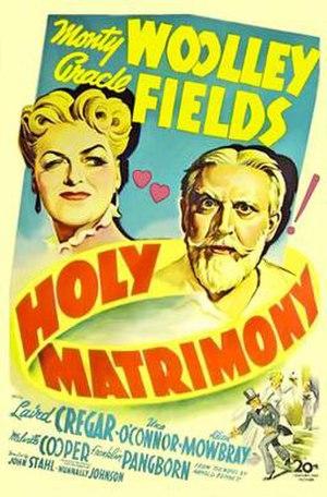 Holy Matrimony (1943 film) - Image: Holy Matrimony Film Poster
