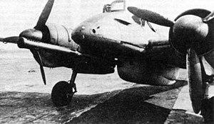 Henschel Hs 129 - A closeup of the Bordkanone BK 7,5 75 mm cannon.