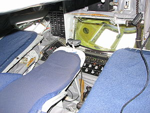 Boom operator (US military) - The boom pod in a USAF KC-135. The boom operator lies in a prone position while refueling.